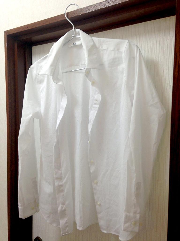 脱水後のスーピマコットンストレッチシャツ