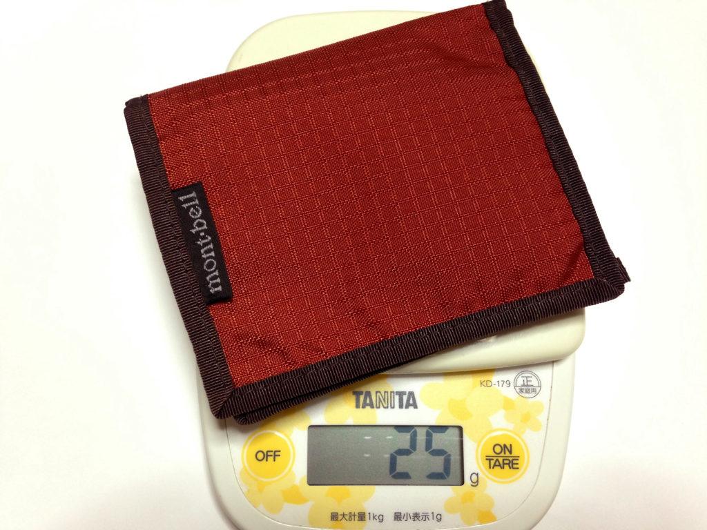 スリムワレットの重さは25g