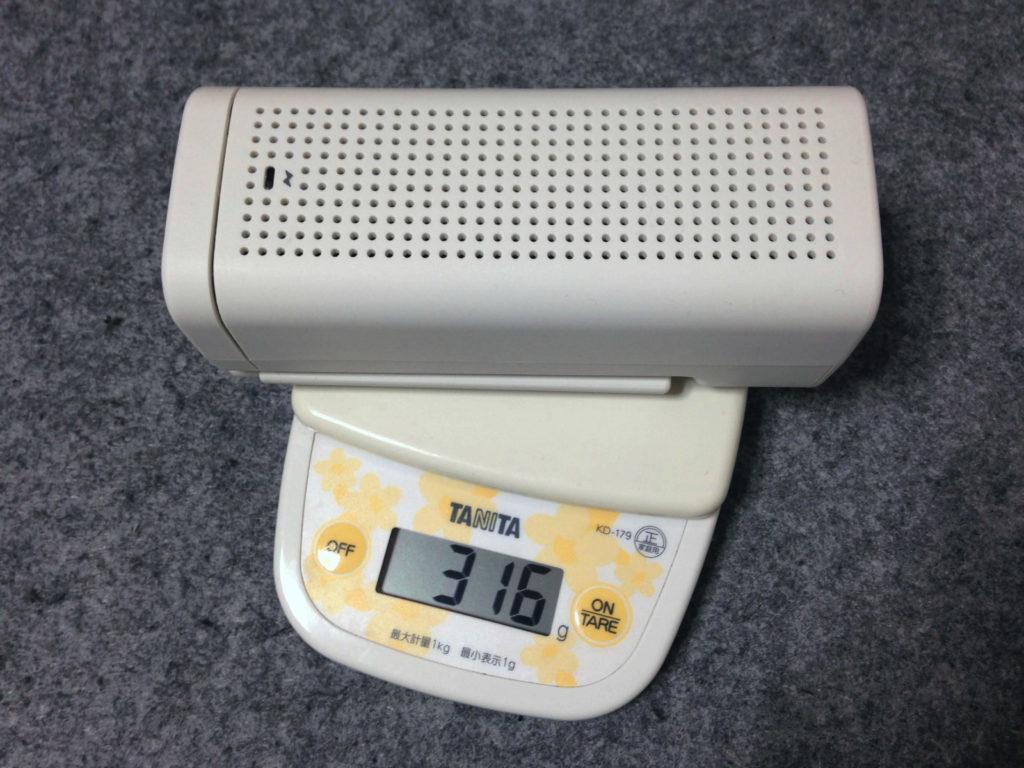 手回し充電ラジオの計量
