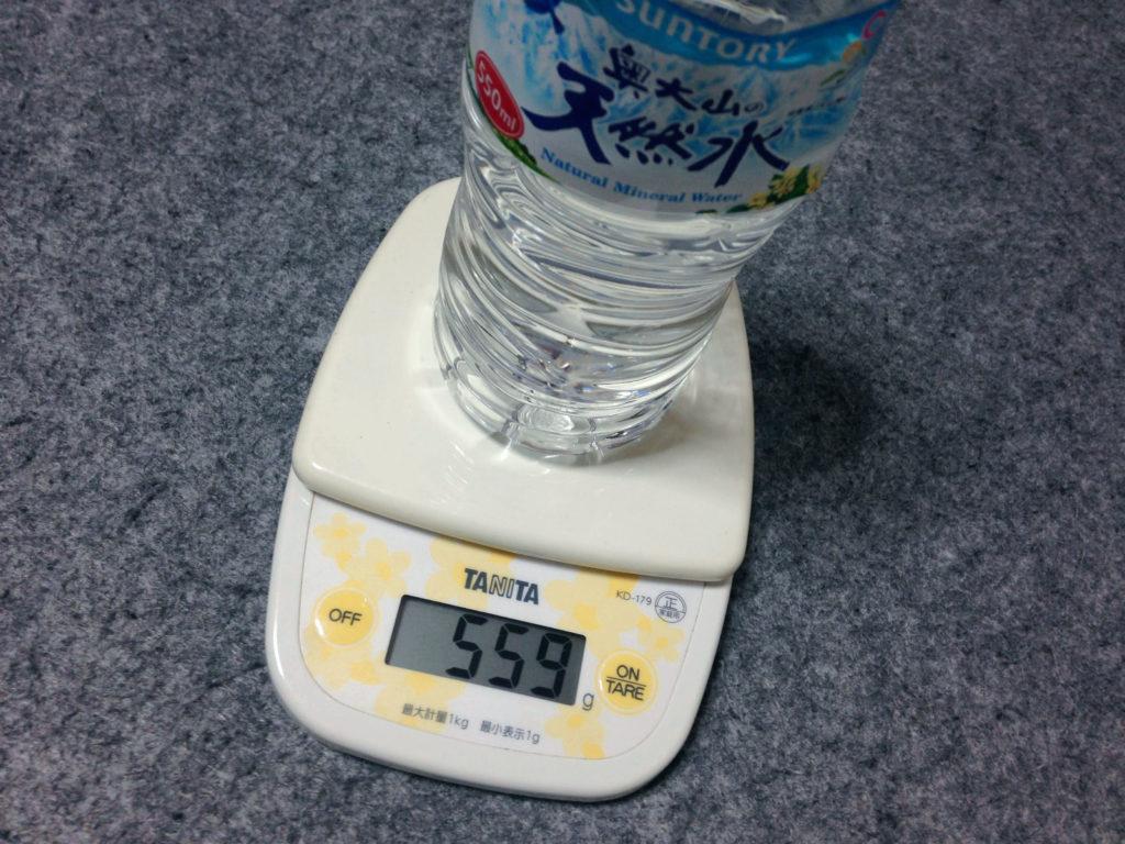 ペットボトルの計量